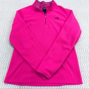 The North Face Hot Pink Fleece Pullover Size Large